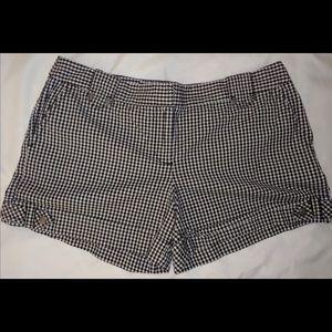 Ann Taylor Loft Black & White Check Shorts